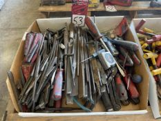 Lot of Assorted Punches, Files, and Screwdrivers