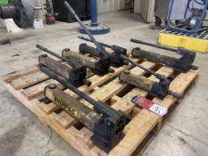 Lot of (6) ENERPAC Hydraulic Pumps