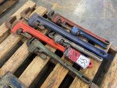 """Lot of (6) Assorted Pipe Wrenches from 14-36"""""""