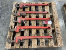 """Lot of (5) RIDGID 36"""" Pipe Wrenches"""