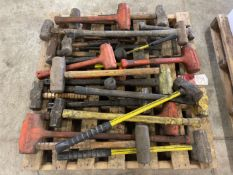 Pallet of Assorted Hammers and Mallets