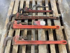 """Lot of (5) Assorted Pipe Wrenches from 10-36"""""""