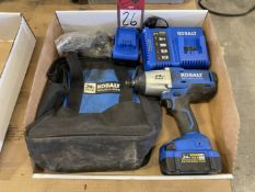 KOBALT 24V Cordless Drill w/ Charger, (2) Batteries and Tool Bag