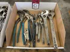 Lot of Adjustable Wrenches and Pliers
