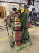 SAF-T-CART Torch Cart, w/ Tanks, Hose and Torch