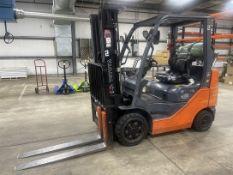 TOYOTA 8FGCU25 LP Forklift, s/n 34371, 5000 Lb. Capacity