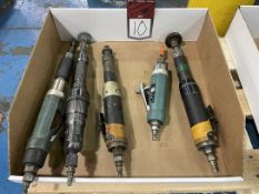 Lot of (5) Assorted Air Finishing Tools