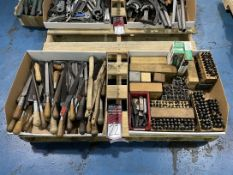 Lot of Assorted Files, Brushes and Stamps