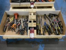 Lot of Assorted Screwdrivers, Snips and Cutters