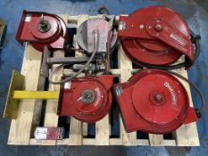 Lot of Reelcraft and Westward Air Hose Reels