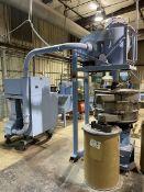 Cumberland 6 Quietizer Pelletizer, s/n 326050-3-85002, w/ Vacuum and Sweco M-30-2-97 Separator, s/