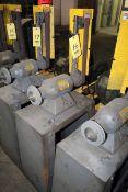 DOUBLE END GRINDER, w/belt sander, pedestal mount, Baldor 3/4 HP motor, 115/230 V.