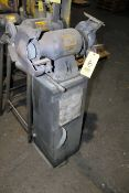 DOUBLE END GRINDER, pedestal mount, Baldor 1/2 HP motor, 115/230 V.