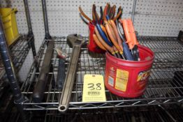 LOT CONSISTING OF: needle nose pliers, adj. wrenches