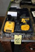 CORDLESS DRILL, DEWALT, 18 V. lithium, w/battery & charger