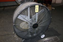 "PORTABLE DRUM FAN, TRIANGLE IND. MDL. PC4214, 42"" direct drive, 1/2 HP"