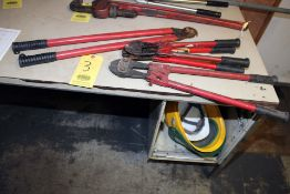 LOT CONSISTING OF: (3) No. 1 bolt cutters & (1) CIM 700 wire cutter