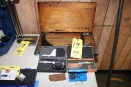 """LOT CONSISTING OF: (2) 0 to1"""" blade micrometers, (1) Scherr Tumico 9"""" to 12"""" O.D. micrometer, (1)"""