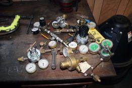 LOT CONSISTING OF: (6) Wire Wizard round drum hoods, oxygen, acetylene gauges, (1) Industrial