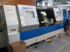 "CNC LATHE, DOOSAN PUMA MDL. 300LC, new 2005, Fanuc Series 21i-TB CNC control, 23.2"" swing over"