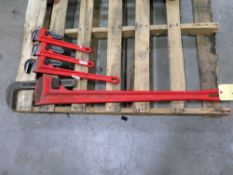 """LOT OF PIPE WRENCHES, ARMSTRONG, 48"""", 24"""" & (2) 18"""""""