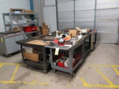 LOT CONSISTING OF: (8) shop carts, w/contents including: screws, nuts, bolts, washers, hand tools,