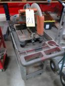 """CHOP SAW, RIDGID R4141, 14"""", on cart"""