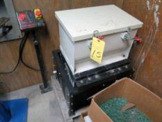 "VIBRATORY PARTS CLEANER, TUMBLE MDL. 180, 120 v., 12"" x 18"" box, w/additional media"