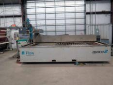 """WATERJET CUTTING MACHINE, FLOW MACH II MDL. M2-4020B, new 2011, 78"""" x 157"""" tbl., ZX Waternife 30"""