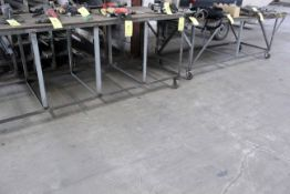 LOT OF ROLLING SHOP TABLES (2), 8' x 3'