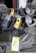 LOT OF ELECTRIC HAND SHEARS: DeWalt, Bosch and Black & Decker