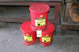 LOT OF OILY WASTE CANS