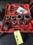 """PIPE THREADING SET, NORTHERN IND., MDL. 89133, 3/8 to 2"""""""
