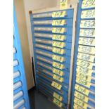 ROLLER DRAWER TOOL STORAGE CABINET, LYON, 14-drawer (cannot be removed until contents have been