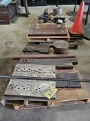 LOT OF FIXTURE PLATES & MISC., assorted (on three pallets)