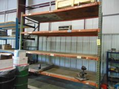 LOT OF RACKS: pallet & steel (contents not included) (racks cannot be removed until contents have