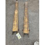 LOT OF FORK LIFT EXTENSIONS (ONE SET), 6'L.