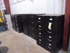 LOT OF FILE CABINETS (9), assorted