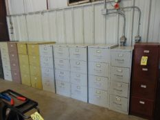 LOT OF FILE CABINETS (12), assorted