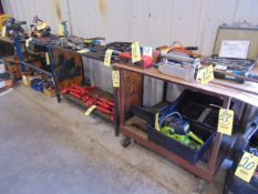 LOT OF TABLES (5), assorted (cannot be removed until contents have been taken)