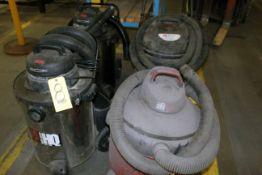 LOT OF SHOP VACUUMS: Hydro-Quick & Dayton
