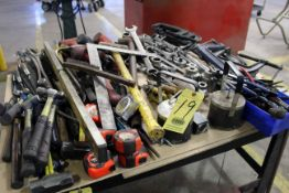 LOT CONSISTING OF: tools, hammers, clamps, wrenches, files, etc. (large lot)