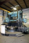 """VERTICAL BORING MILL, KING 72"""", 72"""" built-in faceplate, (4) top jaws, approx. 82"""" swing, L.H. swivel"""