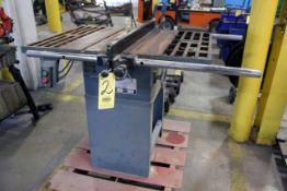 "TABLE SAW, 10"", 1-1/2 HP, S/N 006001"