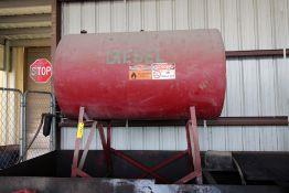 """LOT CONSISTING OF: 48"""" dia. x 6'L. diesel tank & 5'W. x 218""""L. spill pan"""
