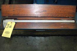 LOT CONSISTING OF: Starrett vernier caliper (for I.D. & O.D. measurements), hardened & stabilized