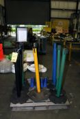 LOT OF RETRACTABLE STRAP BARRIERS