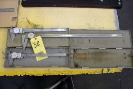 """LOT OF CALIPERS: (4) Mitutoyo & (1) SPI 24"""""""