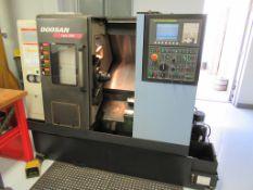 """CNC LATHE, DOOSAN LYNX MDL. 220A, new 2011, Doosan Fanuc Series I CNC control, 20.1"""" max. swing,"""