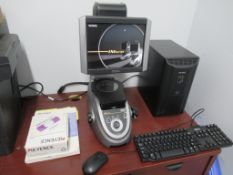 IMAGE DIMENSION MEASURING SYSTEM, KEYENCE MDL. IM-6020, IM-6501E computer software, S/N CC112120